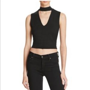 New Bardot Black High neck key hole Crop top 10